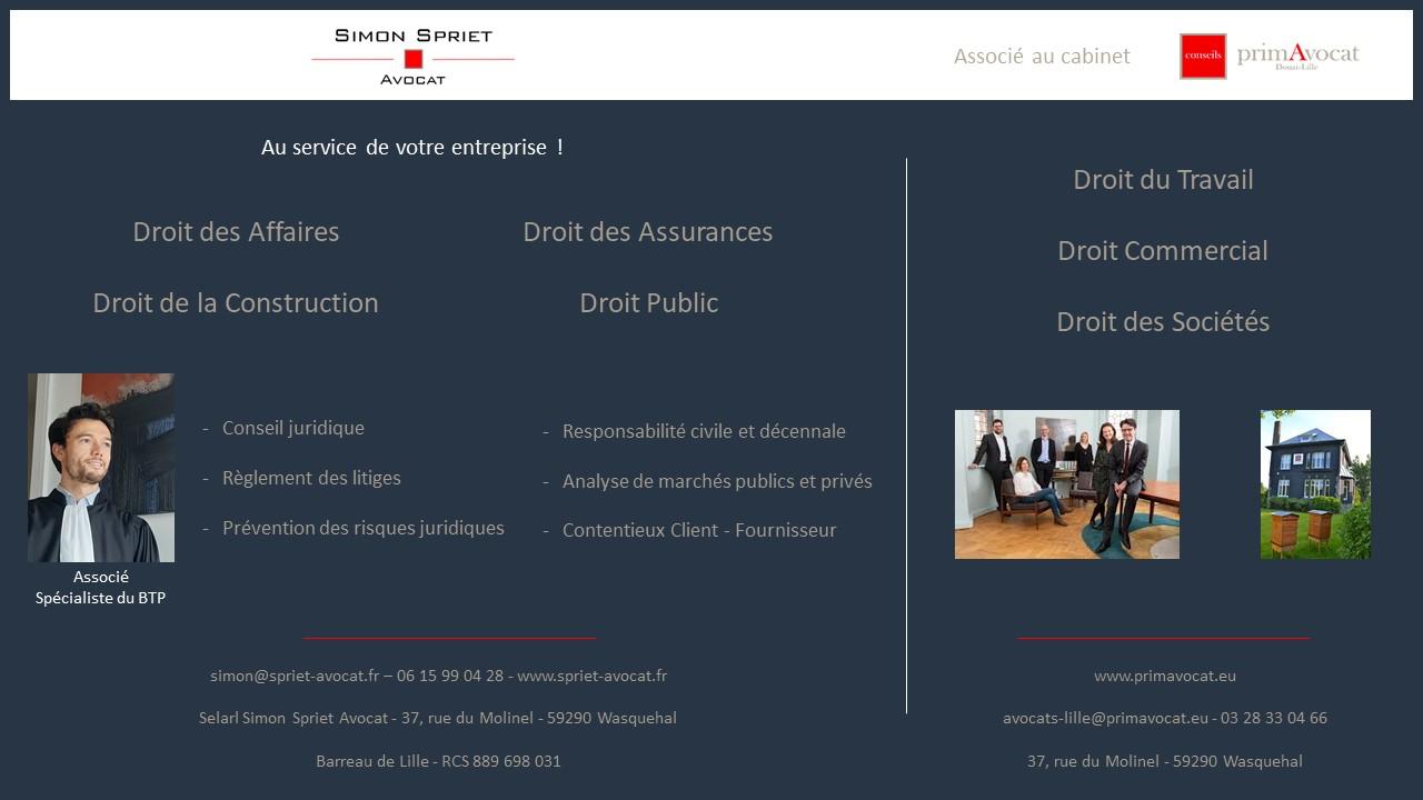 Simon Spriet Avocat et PrimAvocat au service de votre entreprise !